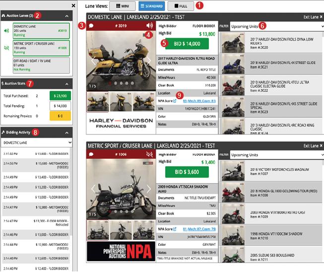 Sample Bid Screen