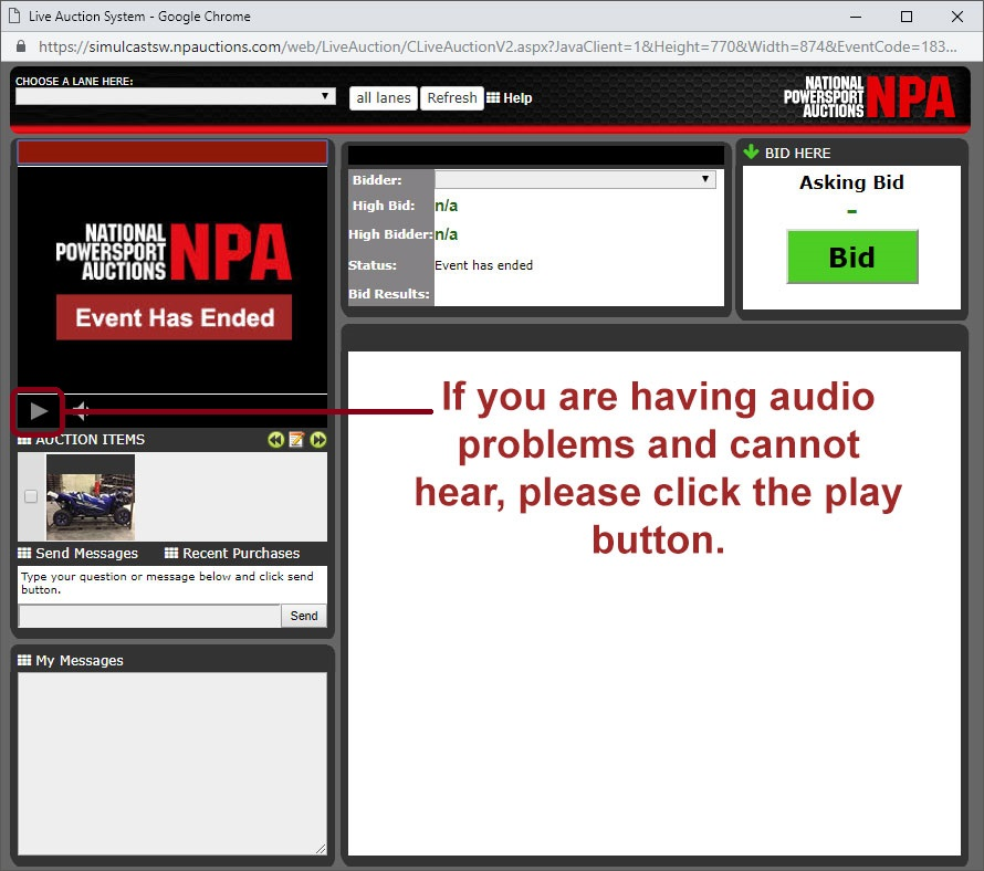 NPA Audio Issues - Sovled